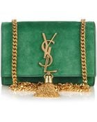 Saint Laurent Cassandre Small Suede Shoulder Bag - Lyst