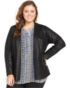 Lucky Brand Jeans Lucky Brand Plus Size Coated Blazer - Lyst