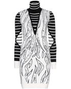 McQ by Alexander McQueen Laddered Woolblend Intarsia Sweater Dress - Lyst