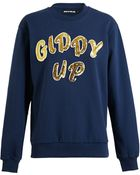 House Of Holland Giddy Up Sweatshirt - Lyst