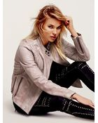 Free People Womens Reminiscent Motorcycle Leather Jacket - Lyst