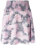 Carven Printed Ribbed Waist Skirt - Lyst