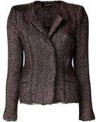 Isabel Marant Tweed Herringbone Jacket - Lyst