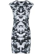 McQ by Alexander McQueen Printed Stretch-Cotton Mini Dress - Lyst