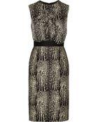 Giambattista Valli Printed Wool and Silk Blend Dress - Lyst