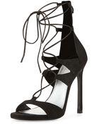 Stuart Weitzman Legwrap Lace-Up Sandal - Lyst
