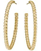 John Hardy Bedeg 18K Gold Medium Hoop Earrings - Lyst