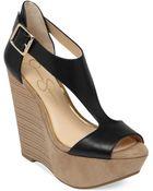 Jessica Simpson Kalachee Tstrap Platform Wedge Sandals - Lyst