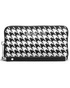 Michael Kors Jet Set Travel Houndstooth Saffiano Leather Phone Case - Lyst