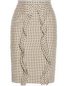 Valentino Polka-Dot Silk Pencil Skirt - Lyst