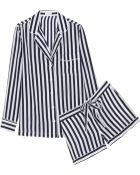Equipment Lilian Striped Washed-Silk Pajama Set - Lyst