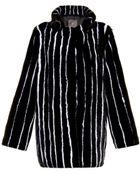 Lilly E Violetta Pinstripe Mink-Fur Coat - Lyst