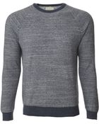 Billy Reid Raglan Crewneck Sweater - Lyst