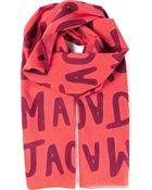 Marc By Marc Jacobs Logo Scarf - Lyst