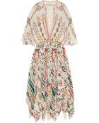 Etro Embellished Printed Silk-Georgette Midi Dress - Lyst