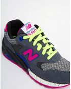 New Balance 580 Suedemesh Graypink Sneakers - Lyst