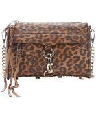 Rebecca Minkoff Leopard Tan Leather 'Mini Mac' Chainlink Shoulder Bag - Lyst
