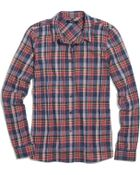 Madewell Flannel Plaid Boyshirt In Rose Tartan - Lyst