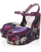 Terry De Havilland Purple Totem Lorenzo Wedge Sandals - Lyst