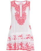 Juliet Dunn Embroidered Cotton Mini Dress - Lyst