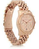 Michael Kors Lexington Rose Gold-Tone Chronograph Watch - Lyst
