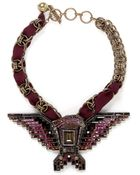Lanvin Crystal Embellished Eagle Necklace - Lyst