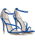 Missguided Nana Faux Suede Strappy Heels in Cobalt Blue - Lyst