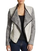 Sachin & Babi Navarre Fleece & Faux Leather Jacket - Lyst