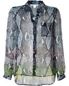 Diane von Furstenberg Silk Loreley Two Snake Print Blouse - Lyst
