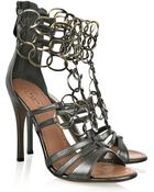Alaïa Chain-link Leather Sandals - Lyst