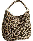 Prada Sand Leopard Dyed Calf Hair Hobo - Lyst