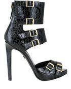 Emilio Pucci 120mm Croco Print Ankle Sandals - Lyst