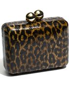 Steven By Steve Madden Faux Leather Box Clutch - Lyst