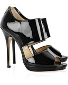 Jimmy Choo Private Patent-leather Sandals - Lyst