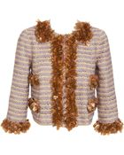 Marc Jacobs Heavily Embellished Wool-blend Jacket - Lyst