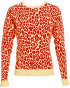Christopher Kane Leopard Print Sweater - Lyst