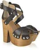 Giuseppe Zanotti Twiggy Leather Platform Sandals - Lyst