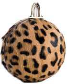 Christian Louboutin Leopard Printed Pony Hair Eden Clutch - Lyst