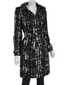 Burberry Charcoal Beat Floral Check Whitbourne Belted Trench Coat - Lyst