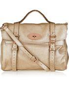 Mulberry Oversized Alexa Metallic Leather Bag - Lyst
