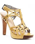 Guess Beautifi Sandal - Yellow Leather - Lyst