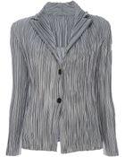 Issey Miyake Pleated Jacket - Lyst