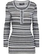 Dolce & Gabbana Striped Stretch-knit Sweater - Lyst