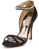 Badgley Mischka Black Decadence Jewel Sandals - Lyst
