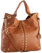 Michael Kors Michael Uptown Astor Large Shoulder Tote Luggage - Lyst