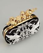 Alexander McQueen Embroidered Knuckle-duster Clutch - Lyst