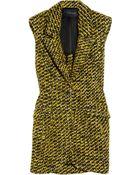 Thakoon Sleeveless Wool-blend Tweed Blazer - Lyst