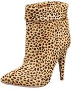 Loeffler Randall Cheetah-printed Calf Hair Bootie - Lyst