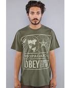 Obey The Global Phenomenology Basic Heather Tee in Heather Army - Lyst