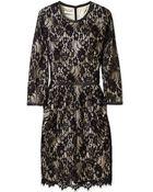 By Malene Birger Senita Lace Overlay Shift Dress - Lyst
